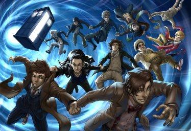 аниме арт 11 докторов